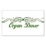 Organ Donor Sticker (Rectangle 10 pk)