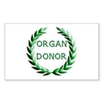 Organ Donor Sticker (Rectangle)