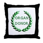Organ Donor Throw Pillow