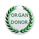 Organ Donor Ornament (Round)
