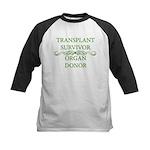 Transplant Survivor and Organ Kids Baseball Jersey