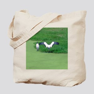 sunning cranes Tote Bag