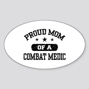Proud Combat Medic Mom Sticker (Oval)