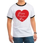 Happy Valentines Day Ringer T