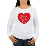 Happy Valentines Day Women's Long Sleeve T-Shirt