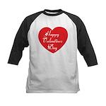 Happy Valentines Day Kids Baseball Jersey