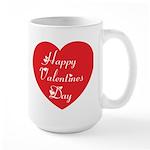 Happy Valentines Day Large Mug