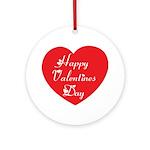Happy Valentines Day Ornament (Round)