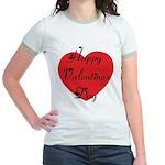 Happy Valentines Day Jr. Ringer T-Shirt