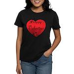 Happy Valentines Day Women's Dark T-Shirt