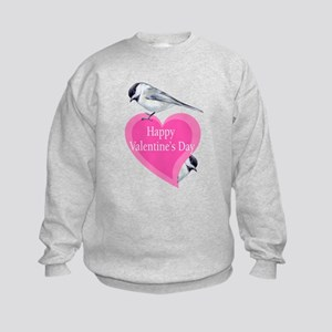 chickadee valentine Kids Sweatshirt