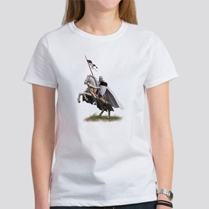 Templar on rearing horse Women's T-Shirt