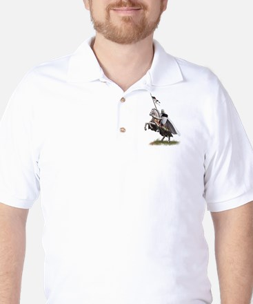Templar on rearing horse Golf Shirt