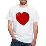 Heart White T-Shirt