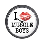 I X Muscle boys Wall Clock