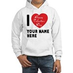 Personal Name : Valentine Hooded Sweatshirt