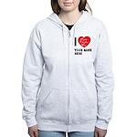 Personal Name : Valentine Women's Zip Hoodie