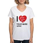 Personal Name : Valentine Women's V-Neck T-Shirt