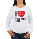 Personal Name : Valentine Women's Long Sleeve T-Sh