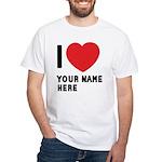 I Love ... Personal Name White T-Shirt
