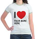 I Love ... Personal Name Jr. Ringer T-Shirt