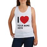 I Love ... Personal Name Women's Tank Top