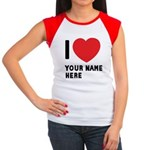 I Love ... Personal Name Women's Cap Sleeve T-Shir