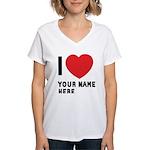 I Love ... Personal Name Women's V-Neck T-Shirt