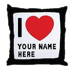 I Love ... Personal Name Throw Pillow