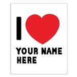 I Love ... Personal Name Small Poster