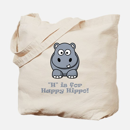 H is for Happy Hippo! Tote Bag
