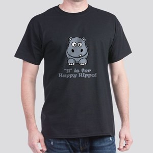 H is for Happy Hippo! Dark T-Shirt