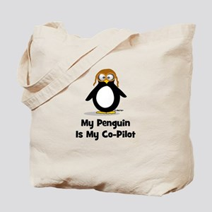 My Penguin is My Co-Pilot Tote Bag