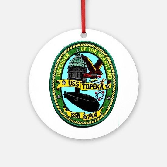 USS Topeka SSN 754 Ornament (Round)