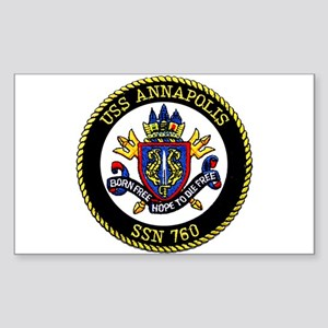 USS Annapolis SSN 760 Rectangle Sticker