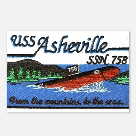 USS Asheville SSN 758 Postcards (Package of 8)