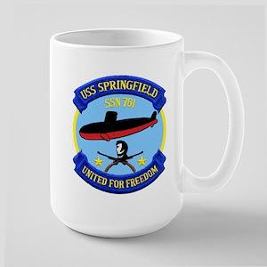USS Springfield SSN 761 Large Mug
