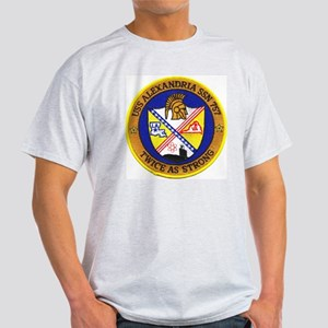 USS Alexandria SSN 757 Ash Grey T-Shirt