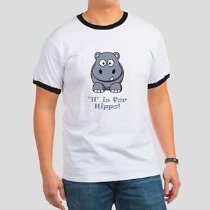 H is for Hippo! Ringer T