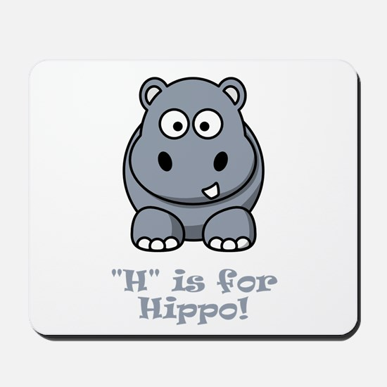 H is for Hippo! Mousepad