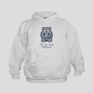 H is for Hippo! Kids Hoodie