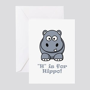 H is for Hippo! Greeting Cards (Pk of 20)