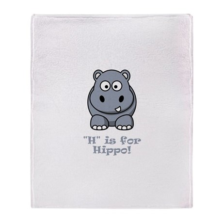 H is for Hippo! Throw Blanket
