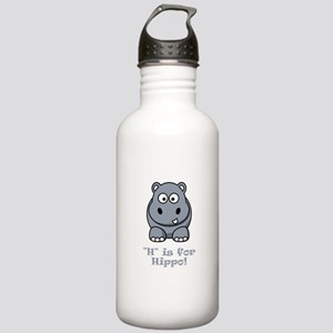 H is for Hippo! Stainless Water Bottle 1.0L