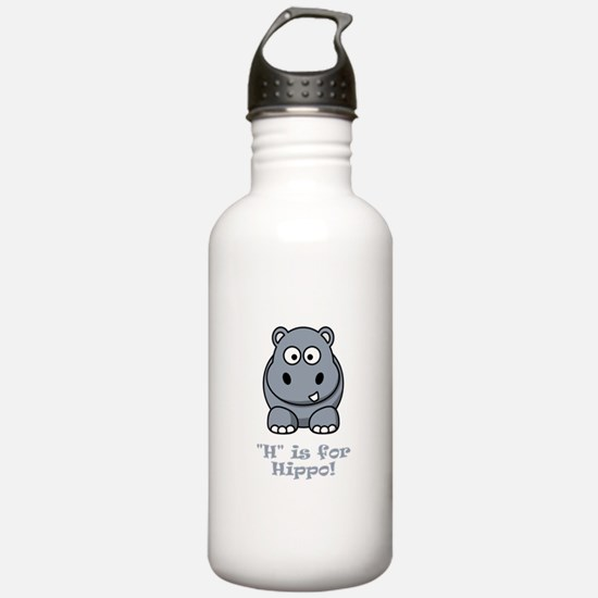 H is for Hippo! Water Bottle