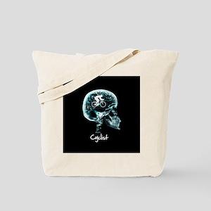 x-ray man cyclist Tote Bag