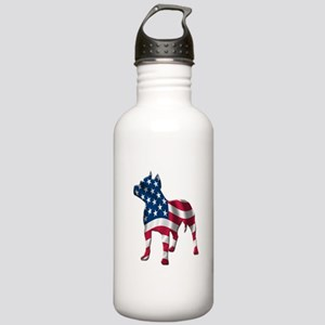 Patriotic Pit Bull Design Stainless Water Bottle 1