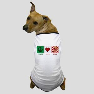 Peace Love Pizza Dog T-Shirt