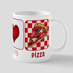 Peace Love Pizza Mug
