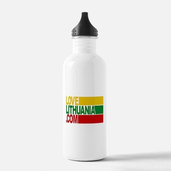 LoveLithuania.com logo Water Bottle
